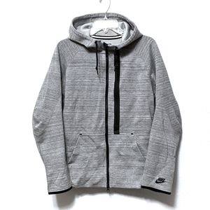 {NIKE} Tech Fleece Gray Zip Front Hood Jacket M